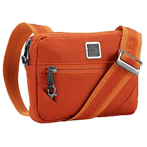 (Lewis N. Clark Commuter + Messenger Bag for Women with RFID Blocking Anti-theft Technology & Adjustable Shoulder Strap, Ember)