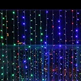 Curtain Lights, IMAGE 224 LED 117.6 IN 79.2 IN LED Lights String Fairy String Lights for Garden/Wedding/Party/Window/Home Decorative - Multi Color