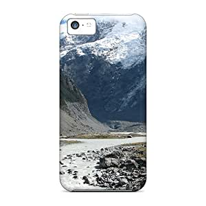 Flexible Tpu Back Case Cover For Iphone 5c - Mountain Side Stream