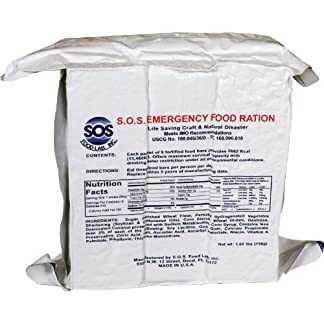 S.O.S. Rations Emergency 3600 Calorie Food Bar - 3 Day / 72 Hour Package with 5 Year Shelf Life - 10 PK