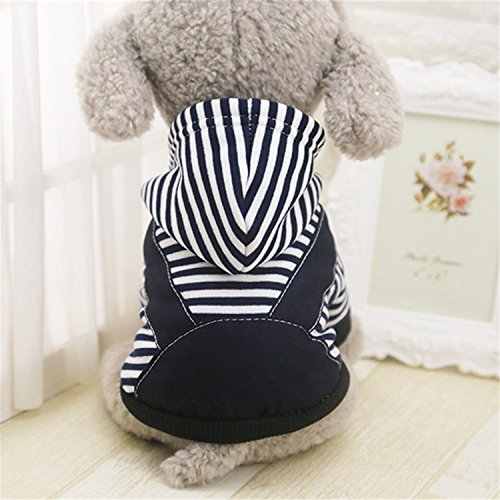 Sims 3 Party Costume (spyman Fashion Warm Winter Womens Clothes Small Medium Large Womenss Coat Hoodie Sweatshirt Stripe Puppy Chihuahua Costume Clothing XS-5XL Dark Blue)