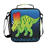 Insulated Lunch Box Dinosaur Chasmosaurus Large Lunch Bag Warmer Cooler Meal Prep Lunch Tote with Shoulder Strap for Women Boys Girls