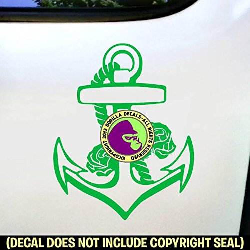 Ed Hardy Anchor (ANCHOR Roses Vinyl Decal Sticker F)