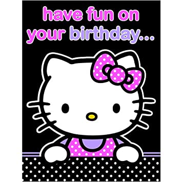 2a08cbd1d Hello Kitty Birthday Card - Have Fun On Your Birthday: Amazon.co.uk ...