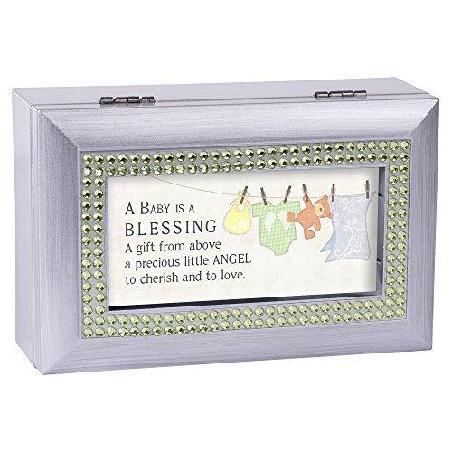 Baby Blessing From Above to Love Silver Jewelry Music Box Plays Tune You are My (Above Box)