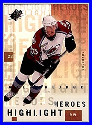 2000-01 SPx Highlight Heroes #HH5 Milan Hejduk COLORADO AVALANCHE