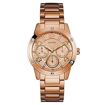 Guess W0778L3 - Reloj de Pulsera Mujer, Acero Inoxidable, Color Oro Rosa: Amazon.es: Relojes