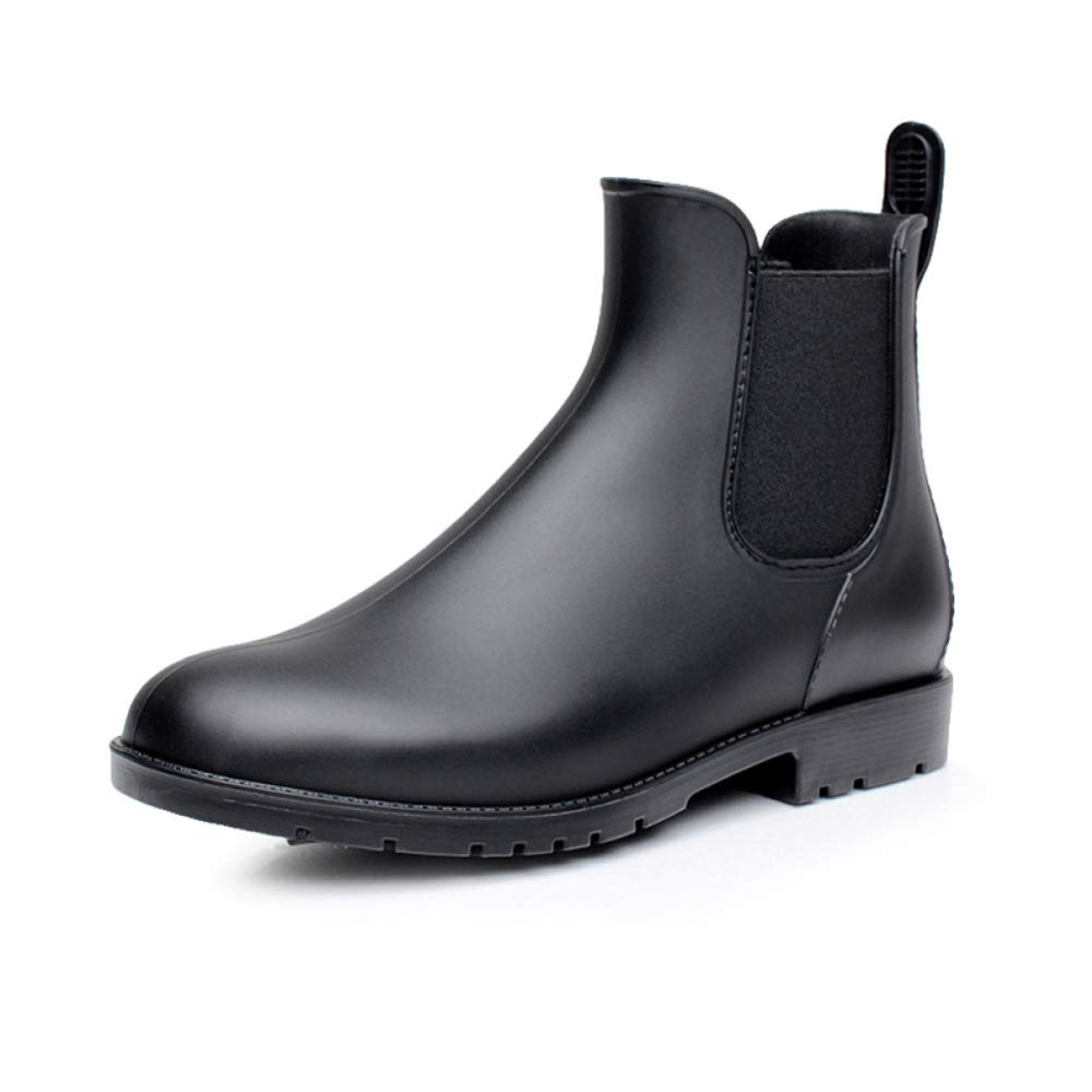 RegbKing Damen Short Rain Unisex Stiefel Wasserdichter Slip On Knöchel Chelsea Stiefelies