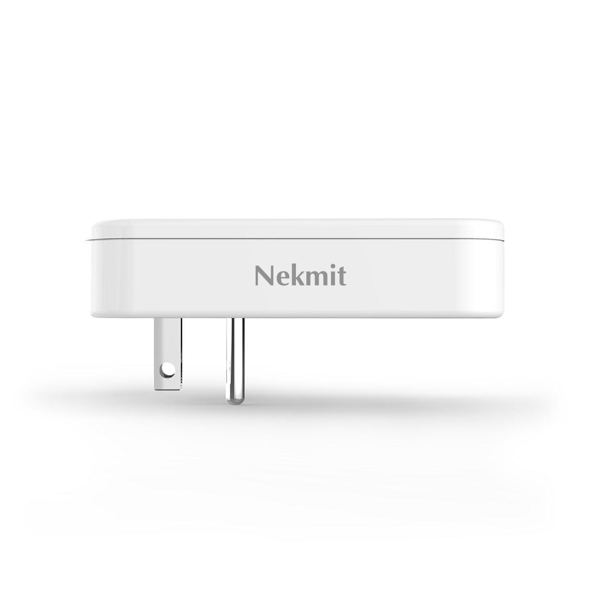 Nekmit Dual Port Ultra Thin Flat USB Wall Charger with Smart IC by Nekmit (Image #4)
