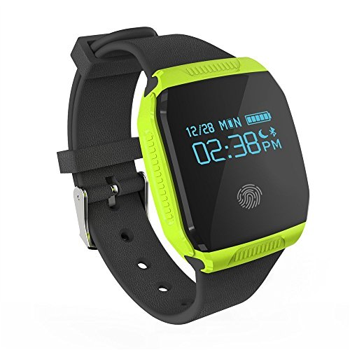 IP67 Waterproof 6 Axis G-Sensor Smart Watch Designed for Swimming Tracker, Biking Running Activity Tracking Pedometer Sleep Monitor with Messages Notifications for Android IOS Smartphones(Green)