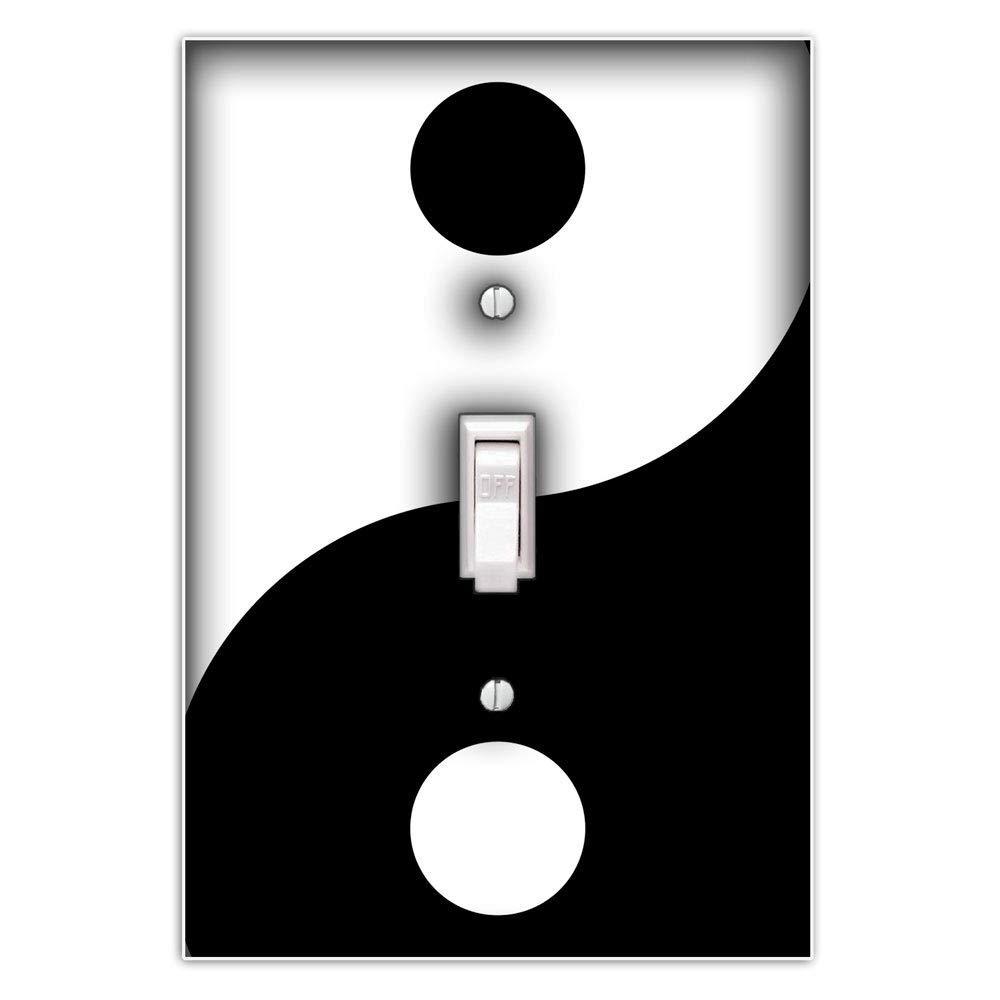 Yin Yang Decorative Single Toggle Light Switch Plate Cover