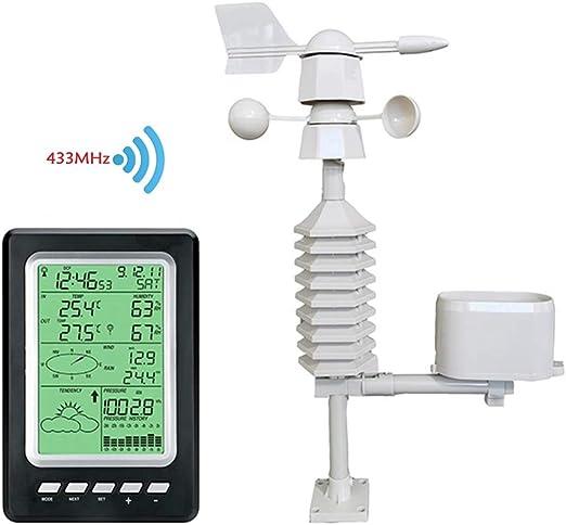 Estación meteorológica, agricultura, jardín, balcón, hogar, barómetro, medidor de temperatura y humedad: Amazon.es: Jardín