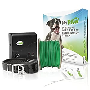 inground electric pet containment system waterproof wireless electric dog fence system with dog shock collar receiver