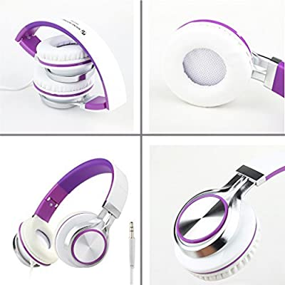 Intone Ms200 Stereo Headsets Strong Low Bass Headphones Earbuds for Smartphones Mp3/4 Laptop Computers Tablet Ipad Macbook Folding Gaming Earphones