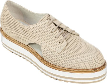 WHITE Leather MOUNTAIN Sand Textured Women's Brody Summit Flat rra06