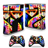MightySkins Protective Vinyl Skin Decal Cover for Microsoft Xbox 360 S Slim + 2 Controller skins wrap sticker skins Loud Graffiti Review