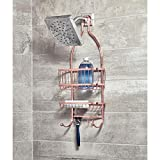 iDesign York Metal Wire Hanging Shower Caddy, Extra