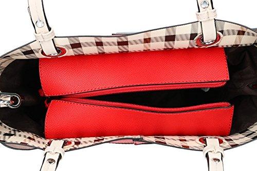 Borsa Donna Spalla Con Tracolla Pierre Cardin Rosso Apertura Zip Vn1777