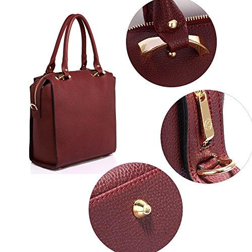 ANNA GRACE - Bolsa Mujer Design 1 - Burgundy