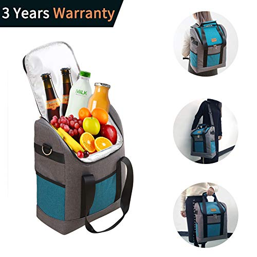 Yitour Insulated Soft Cooler Backpack Bag - Large Collapsible Food Delivery Picnic Portable Water Proof Lightweight Meal Prep Beach Bag Hiking Beer Camping Cooler Backpack for Women Men