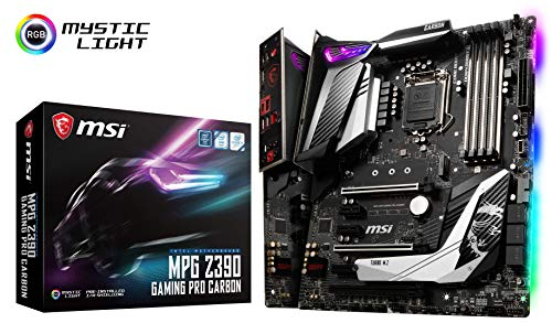 (MSI MPG Z390 Gaming PRO Carbon LGA1151 (Intel 8th and 9th Gen) M.2 USB 3.1 Gen 2 DDR4 HDMI DP SLI CFX ATX Z390 Gaming Motherboard)