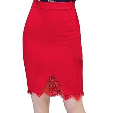 63fda2a596e4 Rock Damen Sommer LHWY Frauen Skinny Röcke eng Spitze Kleid Bleistift  Arbeits Büro Partei Knielang Länge