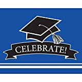 Party Central Club Pack of 75 Cobalt Blue and Black School Spirit Rectangular Invitations 9.2""