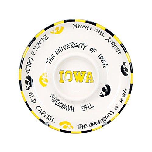 NCAA Collegiate Ceramic Divided Veggie Platter - University of Iowa