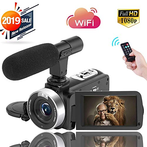 Digital Video Camera WiFi Camcorder Full HD 1080P 30FPS 16X Digital Zoom Vlogging Camera with Microphone