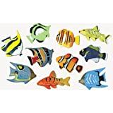 small plastic fish - US Toy Assorted Color and Design Tropical Fish Figure Play Set (Lot of 12)