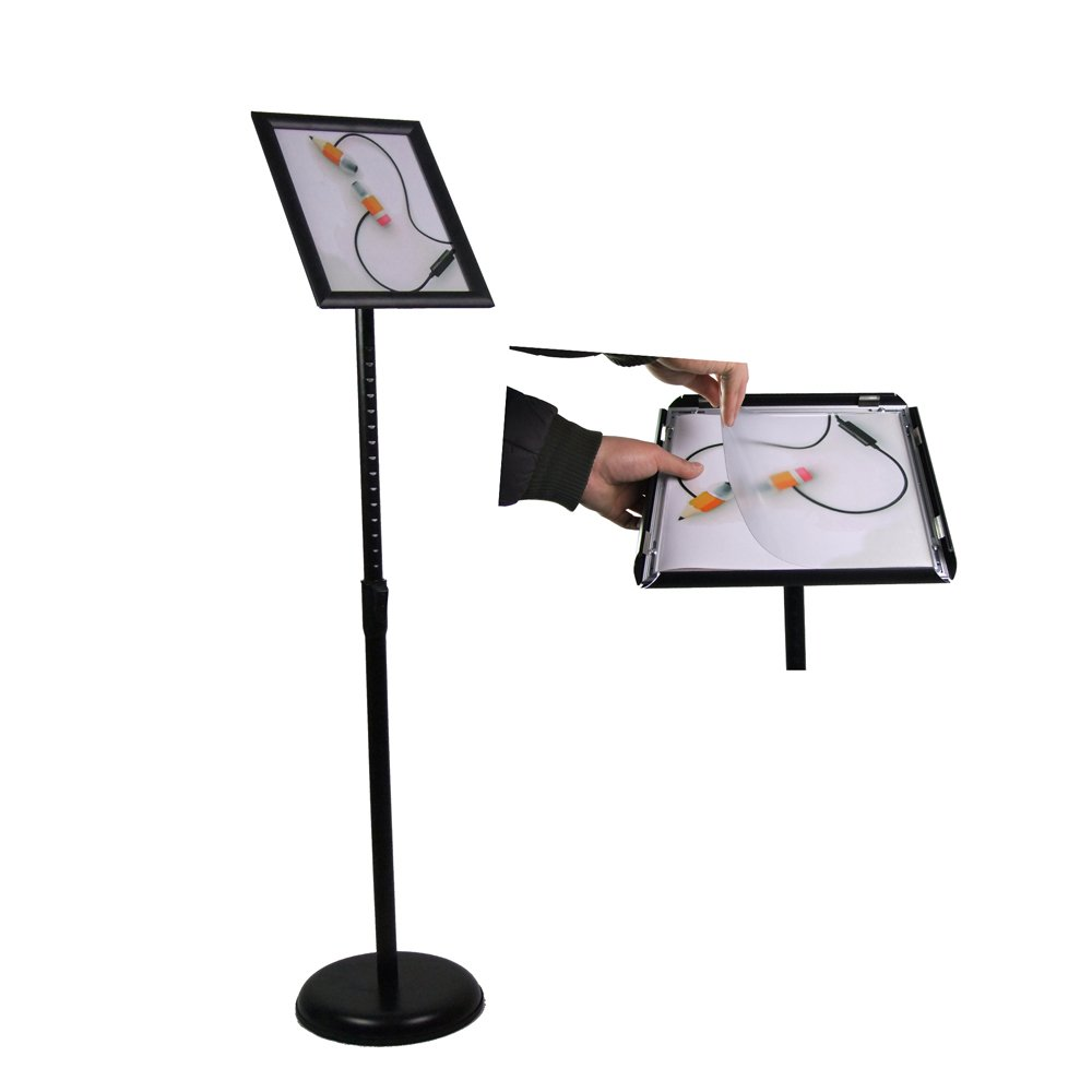 FFsign Pedestal Poster Stand Sign Stand Display Stand Holder with Base,Floor Standing (8.5x11 Black)