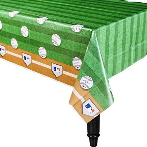Amscan Rawlings Baseball MLB Plastic Table Cover, 54 x 102'' (3-Pack) by Amscan