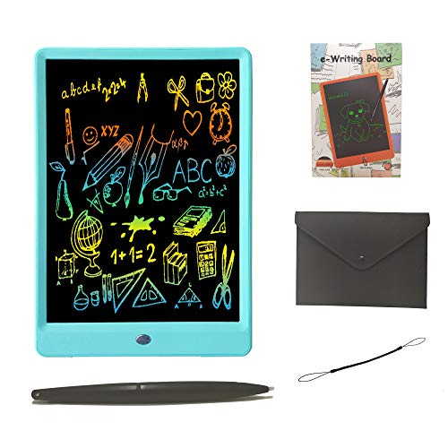Drawing Tablet 10 Inches Writing Tablet Colorful Screen, LCD Writing Tablet Doodle Board Magnetic Drawing Pads for Kids and Adults (Blue)