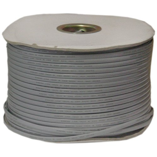 CableWholesale's Bulk Phone Cord, Silver Satin, 26/6 (26 AWG 6 Conductor), Spool, 1000 foot by CableWholesale