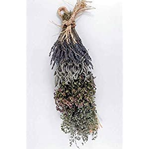Wayhome Fair Culinary Herb Braid Lavender & Sage 20in - Excellent Home Decor - Indoor & Outdoor 16