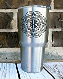 Amazon Price History for:Custom Mandala Monogram Decal- Personalized Vinyl Decal for Yeti Cup, Laptop, Water Bottle, Coffee Mug, Car Window, or Wall