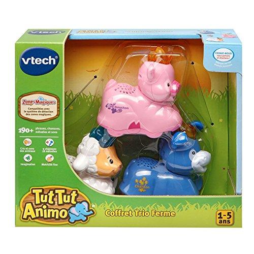 Vtech - A1503908 - Jeu De Construction - Coffret Trio Ferme - Tut Tut 215335 Jouet musical