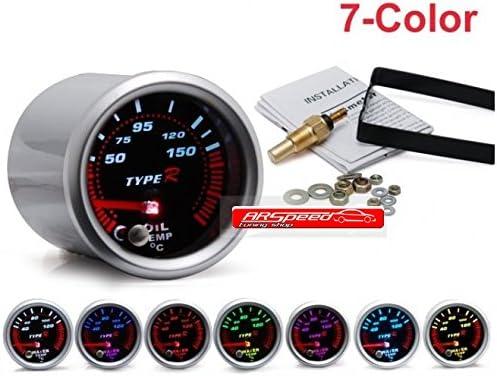 Type R Öl Temparatur Anzeige 7 Farben Anzeige 52mm Oil Temp Auto