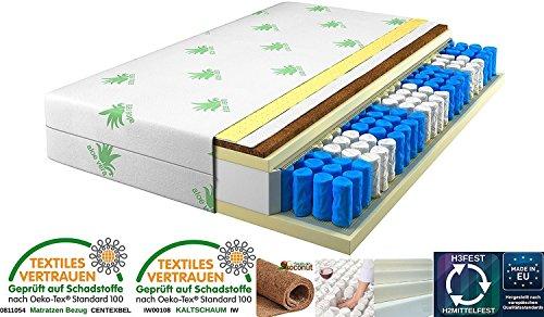 Matratze 80x200 Cm ,9 Zonen Härtegrad H2 H3 (Weiß), Kokos, Rollmatratze,  Bezug Waschbar,... From Tanato Matratzen