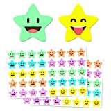 "1000 Pack, Happy Star Reward Stickers, 3/4"", 10"