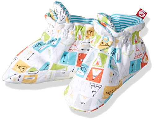 Zutano Baby Boys' Printed Cotton Bootie, Teepee, 18M (12-18 Months) (Cotton Booties)