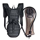 Unigear Tactical Hydration Pack Backpack 900D with 2.5L Bladder for Hiking, Biking, Running, Walking and Climbing (BLACK)