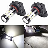 Alla Lighting Extremely Super Bright High Power 50W CREE H10 9145 White LED Lights Bulbs for Fog Light
