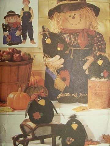 Butterick Pattern 6298 Porch Scarecrow & Crows (Plush Porch Greeter)