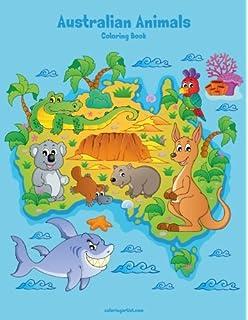 Australian Animals Coloring Book 1 Volume