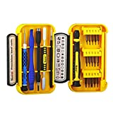 Professional Repair Tool Kit 21 Pieces with Opening Pry Bars, Torx, Ratchet Handle, Precision Magnetic Driver Bits for iphone 5 5 S 6 6 Plus 6S 7 7 Plus 8 8 Plus X, Laptop, and More For Sale