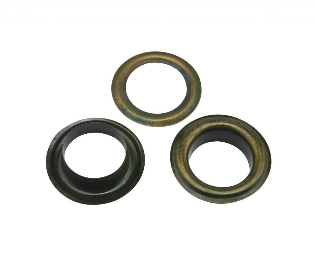 Generic-Occhielli in metallo, colore: bronzo, con foro centrale, diametro interno 1,70 cm (0,67) Vestiti Crafts, confezione da 50 pezzi 67) Vestiti Crafts Tianbang