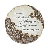 Unseen Unheard Always Near Loved 11 Inch Round Polystone Stepping Stone