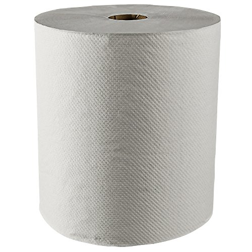 Scott 100% Recycled Fiber Hard Roll Paper Towels (01052), White, 800'/Roll, 12 Rolls/Case, 9,600'/Case