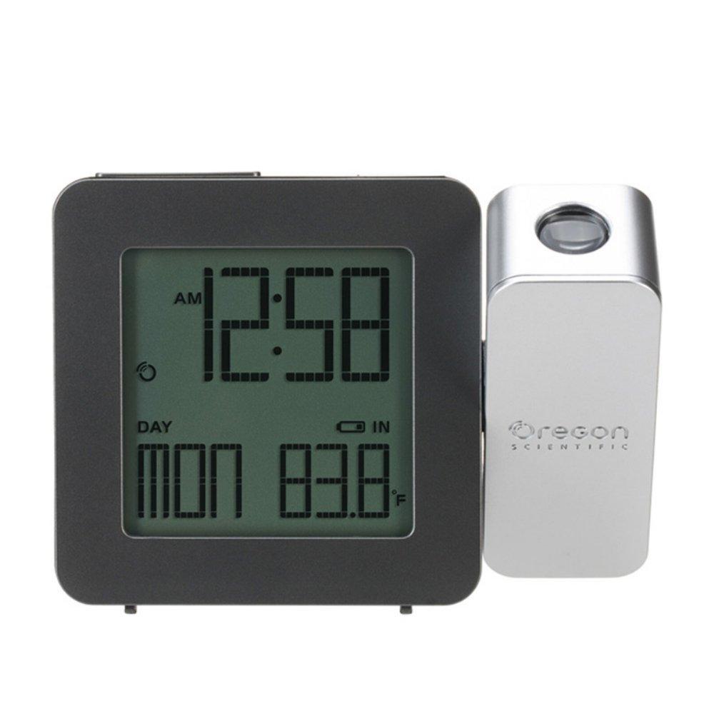 Oregon Scientific PROJI Projection Atomic Clock with Indoor Temperature Calendar Alarm - Black RM338PA/CLMBK